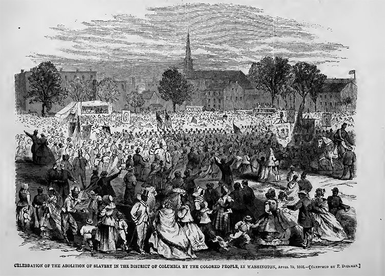 #OnThisDay in 1862, Abraham Lincoln signed the Compensation Emancipation Act, freeing 3000 enslaved people in Washington, DC. #EmancipationDay <br>http://pic.twitter.com/0Iaew6JkWv