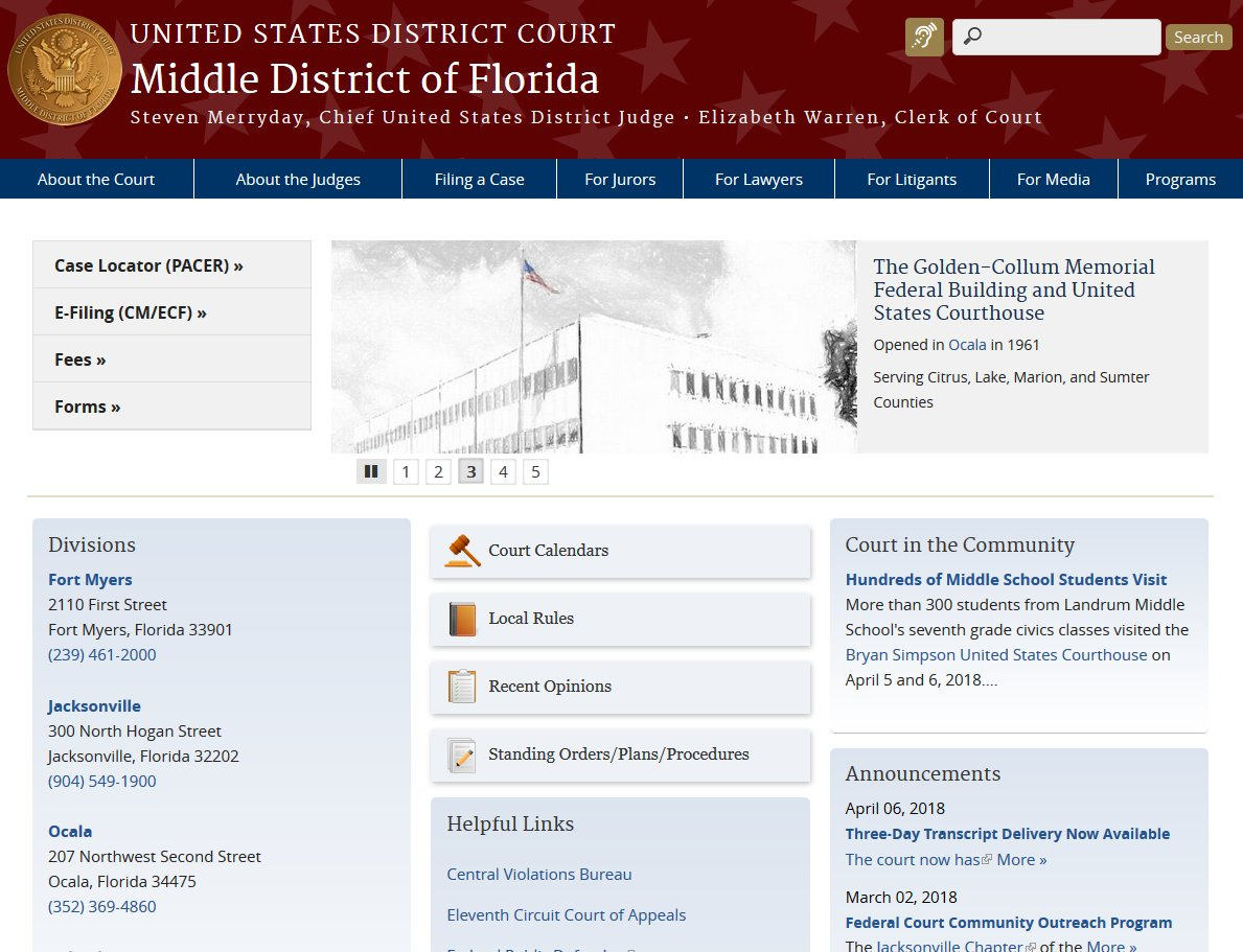 U S  District Court Middle District of Florida on Twitter