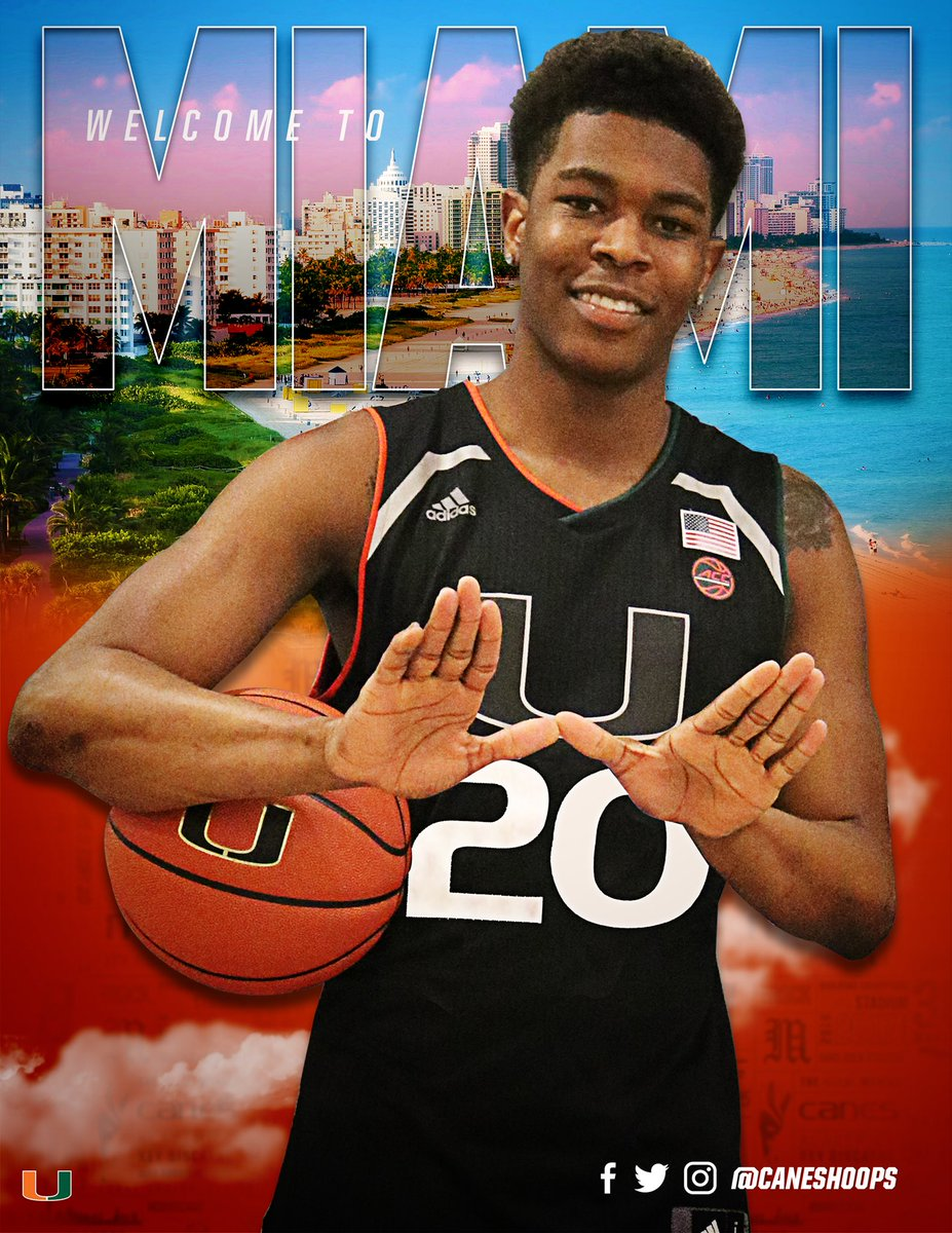 First off I would like to thank god for the opportunity too be able to play at another Univeristy. Also I want to thank my friends and family for the support they have given With that being said, I have decided to commit to the University of Miami! Put em up🙌🏾 #TheU
