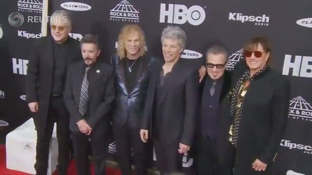 WATCH: Bon Jovi inducted into Rock and Roll Hall of Fame https://t.co/4kTPQVmvte https://t.co/nic0S8qfxw