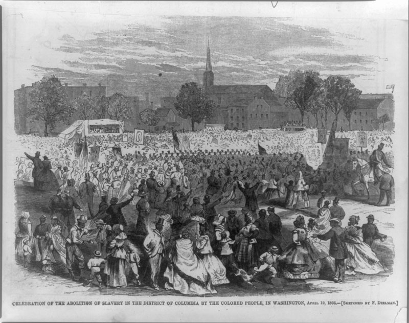 In #History on this day April 16, 1862, #PresidentLincoln signed an act abolishing #slavery in the District of Columbia, an important step in the long road toward full #emancipation &amp; enfranchisement for African Americans. <br>http://pic.twitter.com/N8Ea2uA2ik