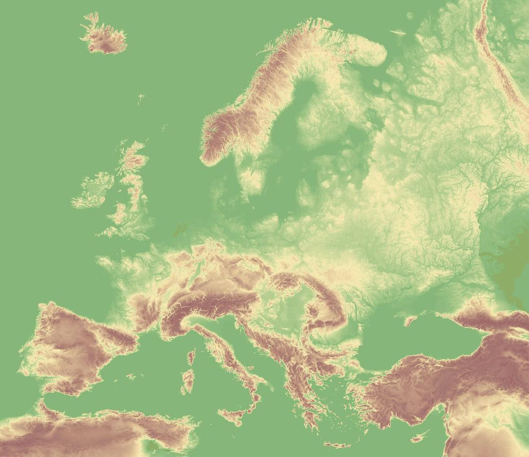 Map Of Europe Plain.Mapscaping On Twitter Relief Map Of Europe Map Maps