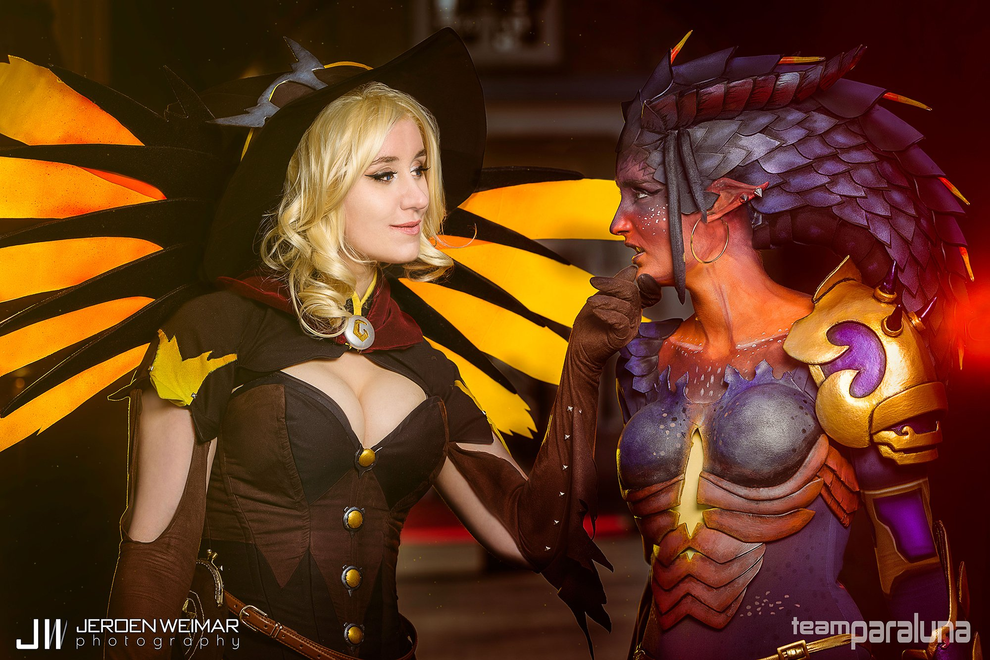 Incredible Dragon Symmetra And Witch Mercy Cosplay Duo General