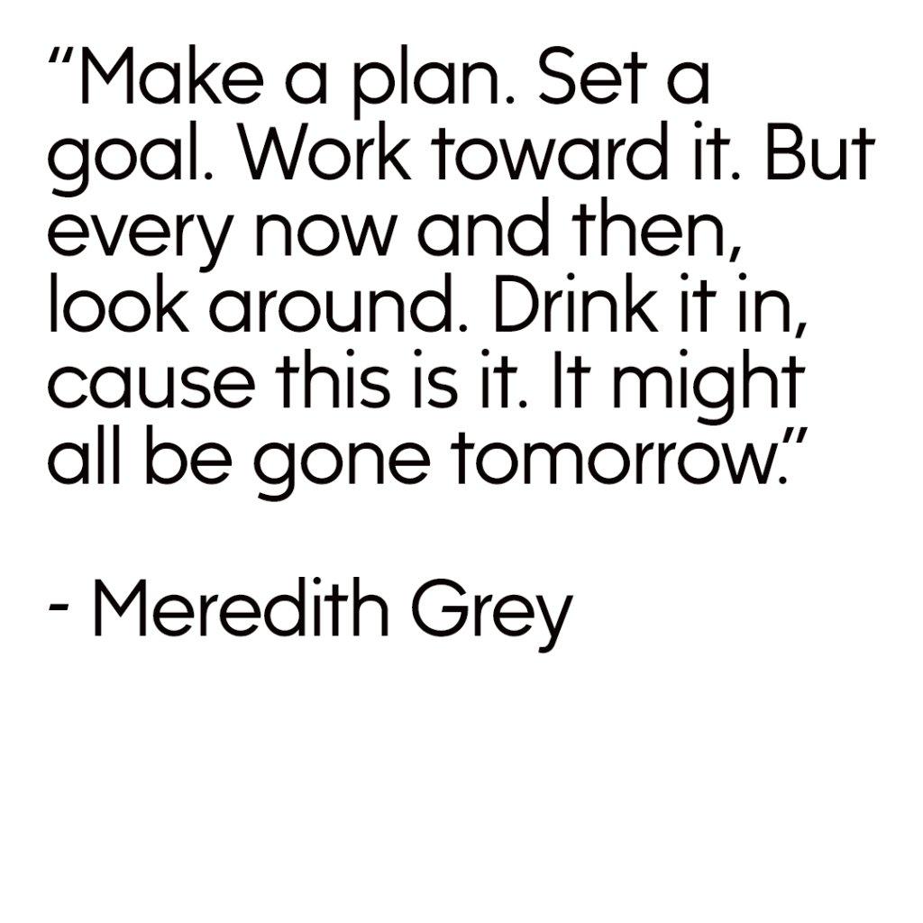 Meredith is #MondayMotivation Goals #Gre...