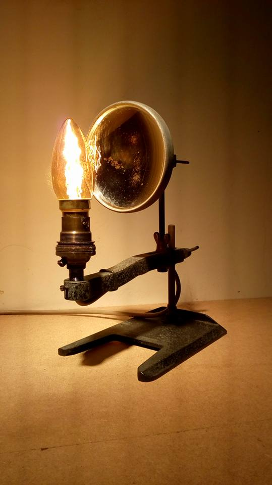 One of the first things made in the workshop, #steampunk #IndustrialLighting