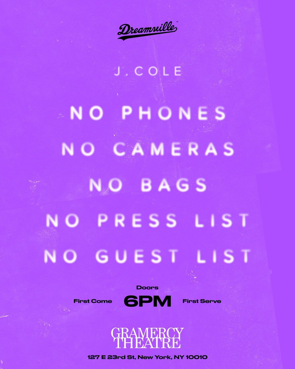 New @JColeNC? �� First come first served NYC! https://t.co/yJGA5mtchX