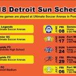 Image for the Tweet beginning: DETROIT SUN FC 2018 UWS SCHEDULE SUN