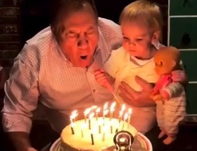 Bill Belichick looked very happy at his 65th birthday party