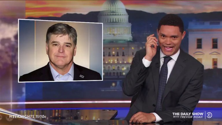 Late-night hosts slam Sean Hannity for sharing Trump lawyer https://t.co/CD30PdwKSM https://t.co/Akf5MrcGzn