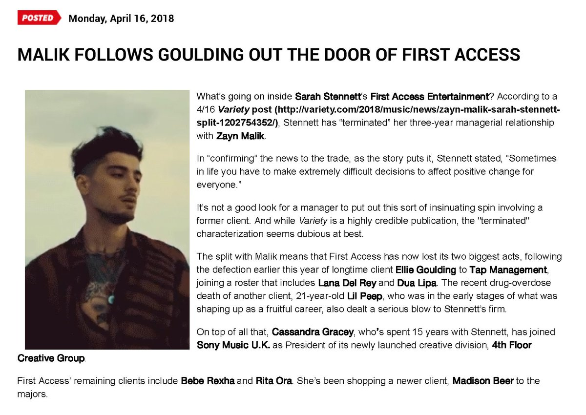 Zayn Daily News On Twitter Malik Follows Goulding Out The Door Of
