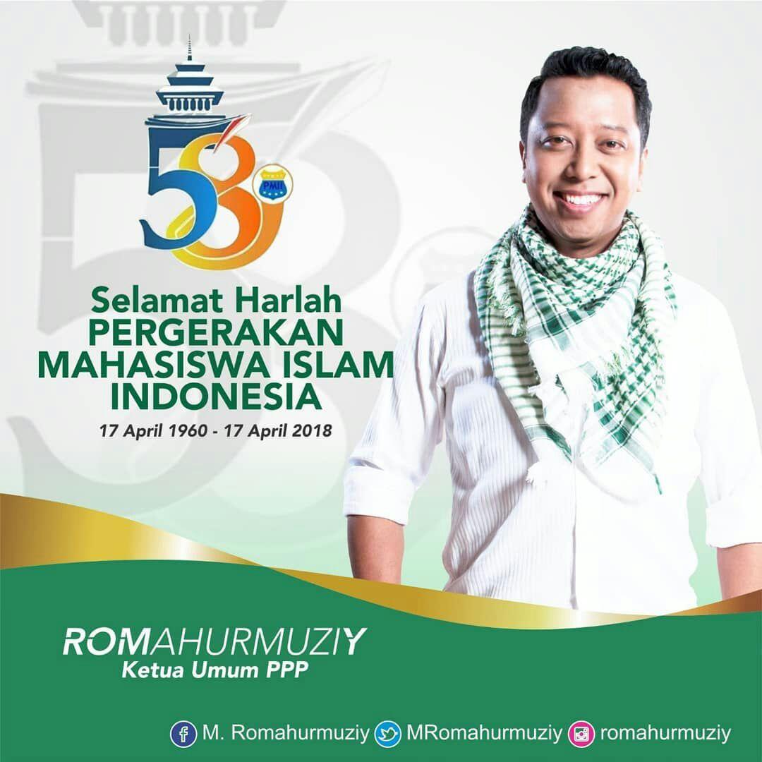 Dirgahayu Pergerakan Mahasiswa Islam Indonesia, semoga selalu terus membumikan Islam Aswaja di kampus2 yang beraneka. @MRomahurmuziy @pbpmii_official @DPP_PPP @pppmuda #HarlahPMII58 #SatuCitaSatuJiwa #PMIIuntukIndonesia #PMIIuntukIndonesia #Romahurmuziy #gusromy