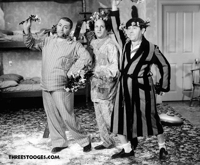 Who else wore their Pajamas to work today? #WearYourPajamasToWorkDay #ThreeStooges<br>http://pic.twitter.com/phTZoMyZFi