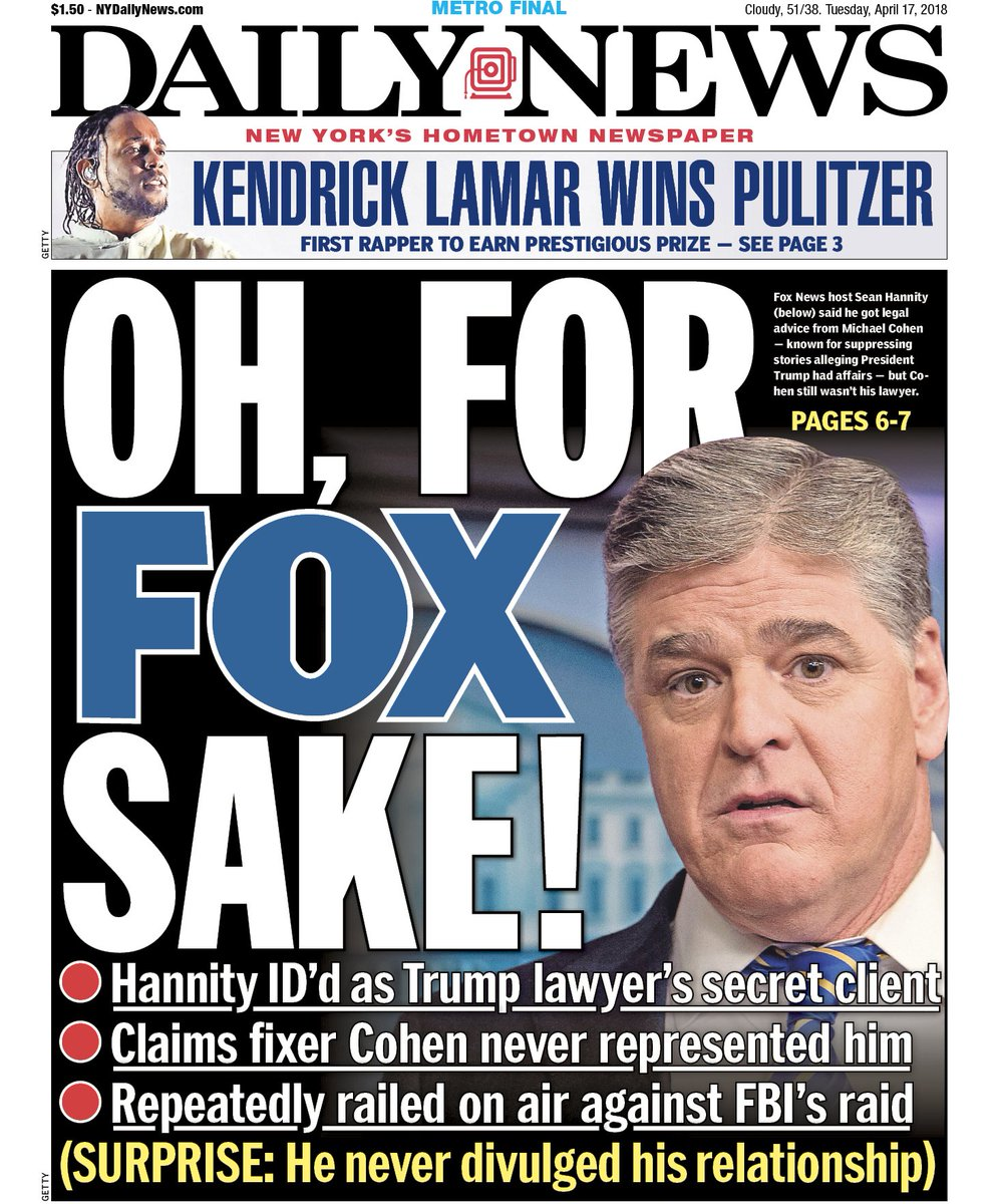 "New York Daily News: New York Daily News On Twitter: ""He Called Hannity! Https"