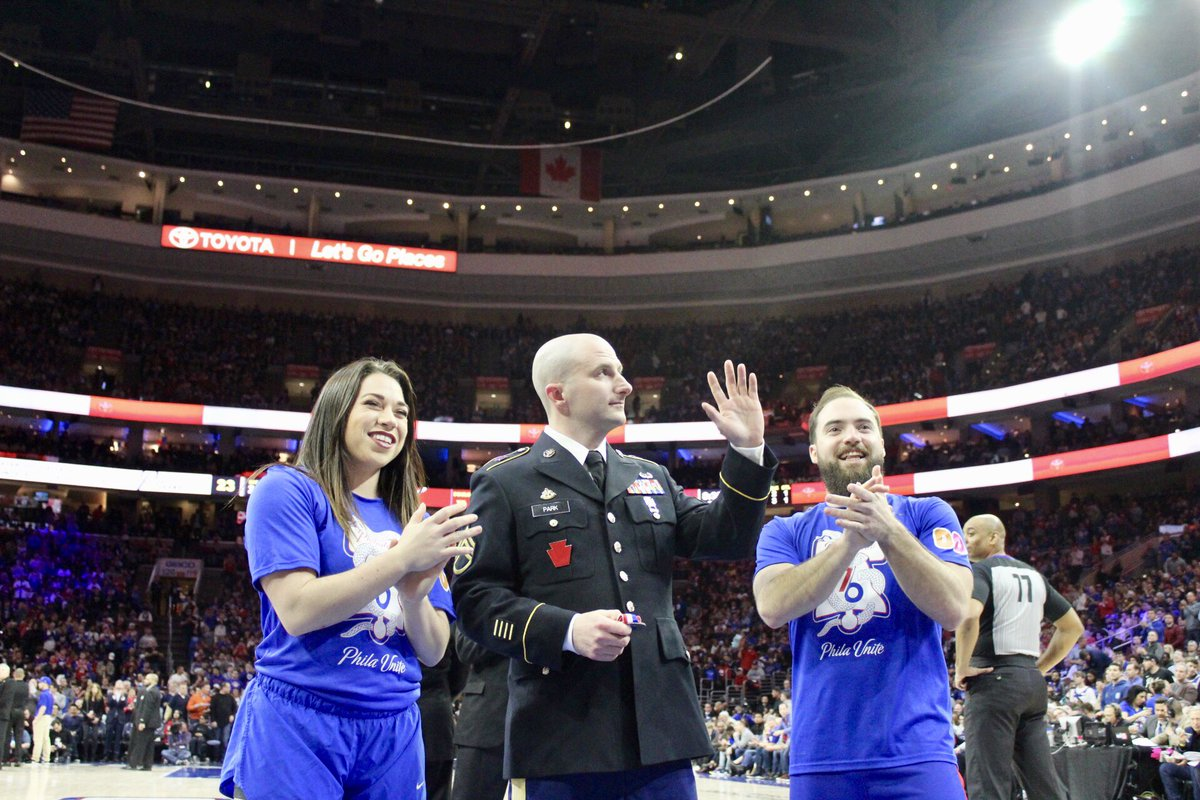 Tonight's @Toyota Salute of the Game is SSG. Andrew Park!  SSG. Park has served 12 years in the @USArmy. Across his service, SSG. Park was deployed overseas twice to Iraq and twice to Afghanistan.  Thank you for your service, SSG. Park!