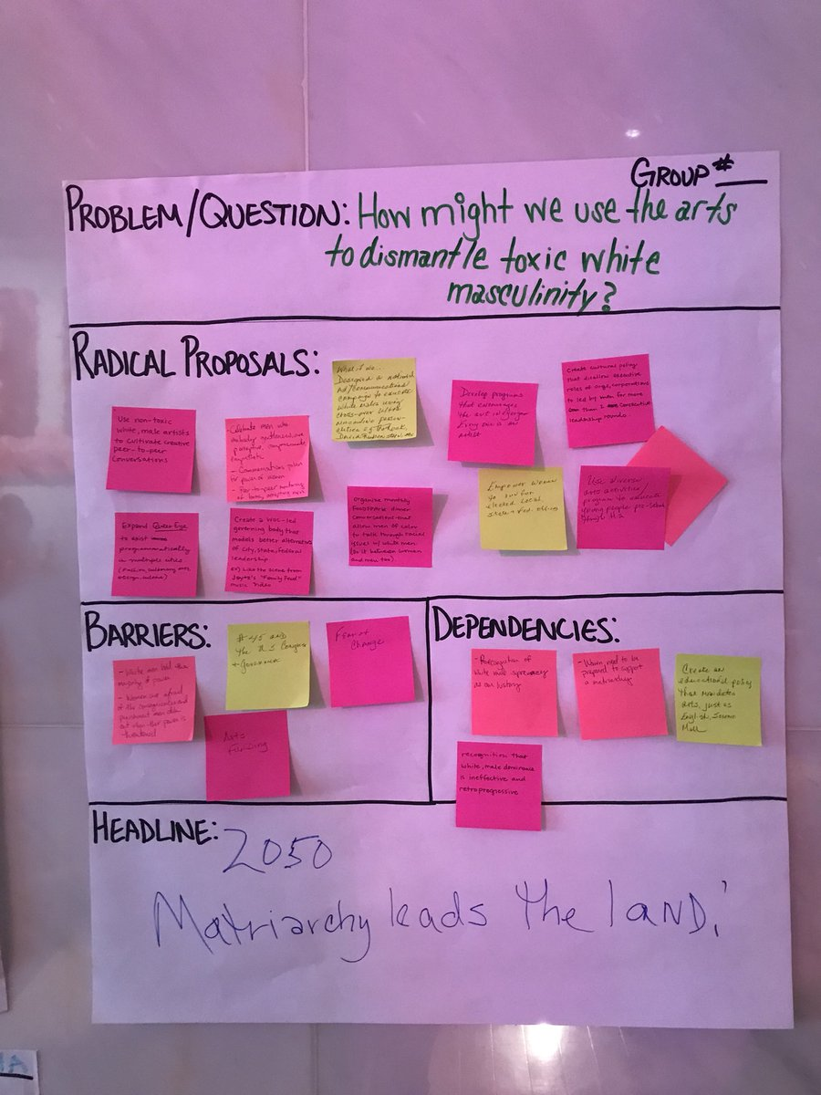 awesome day spent learning and brainstorming ways we can approach today's problems with empathy + love from the start. @kencen #ArtsSummit <br>http://pic.twitter.com/gH0WFhgGQa