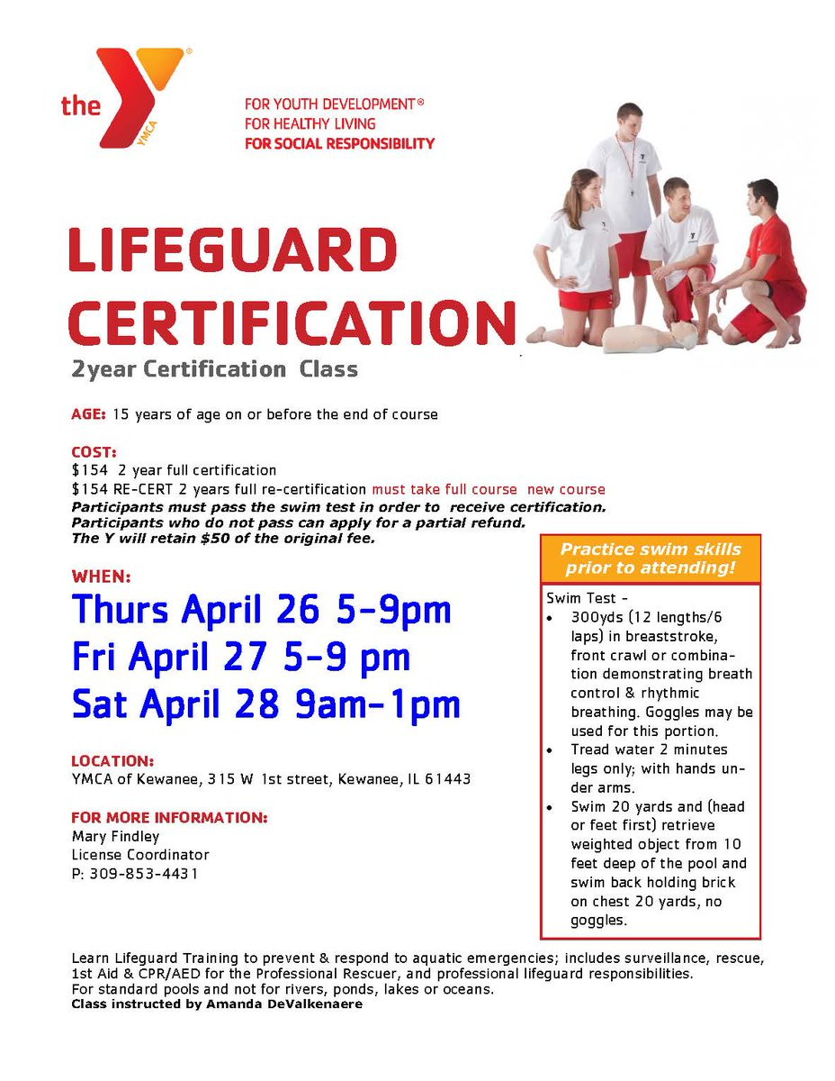 The Ymca Of Kewanee On Twitter Get Certified And Apply The Ymca If