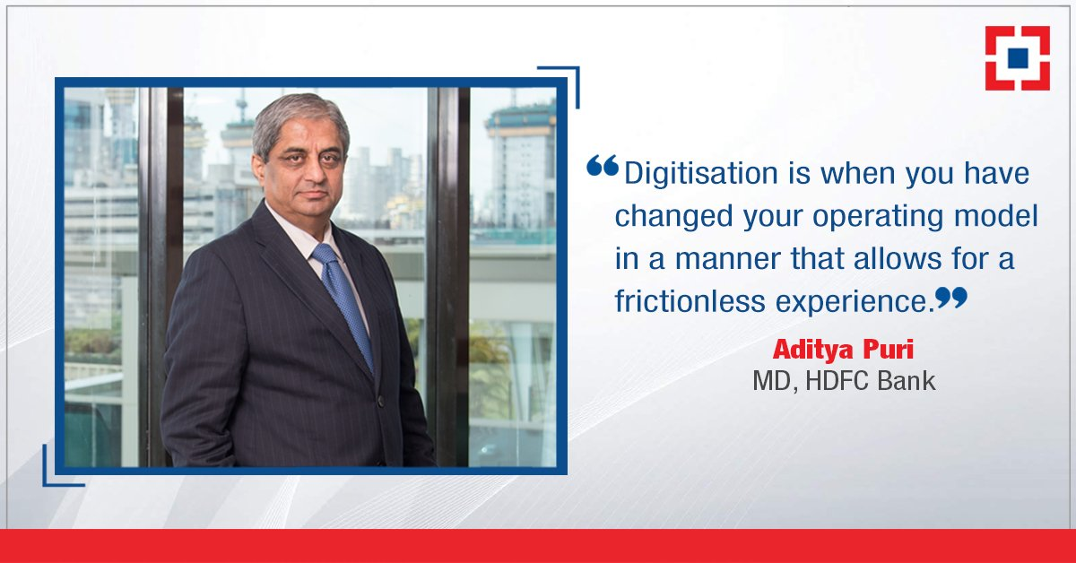 #Repost: With #digitalbanking becoming all-important, @HDFC_Bank&#39;s MD, Aditya Puri tells how the Bank wants to deliver not just banking but a financial experience to its #customers via @FinancialXpress. Read the complete interview here:  https:// bit.ly/2q79OMx  &nbsp;   #GoDigital<br>http://pic.twitter.com/zQ3Msh4zwq