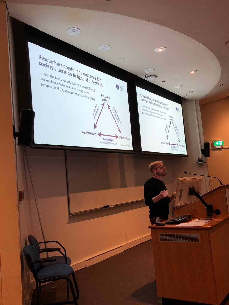 @DickeyCollas considering the role of #science in decision making - Is the science standing up in the face of multiple #opinion making media? Can fisheries management accommodate multiple and social objectives? @CMS_UTas @imber_ipo #participation #legitimacy #democracy<br>http://pic.twitter.com/bbyw8iq4Wb