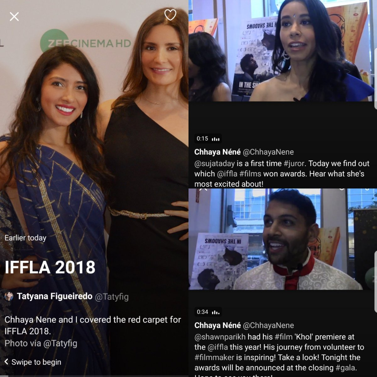 Holy cow. .@Tatyfig &amp; I made .@Twitter moments today for coverage of .@iffla #iffla2018 @BGBStudio #actresses not waiting for stuff to come to them. We went &amp; got it. @CarolineLiem #twittermoments #journo<br>http://pic.twitter.com/DH8vJutkr4