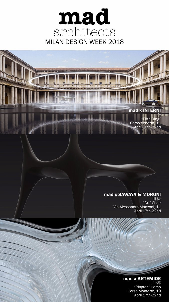 Design D Interni Milano.Mad Architects On Twitter Mad Architects Will Be Presenting Three