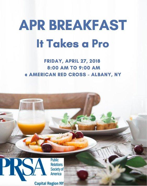 PRSA Capital Region On Twitter April Is APR Month Learn All About - Cuisine pro 27