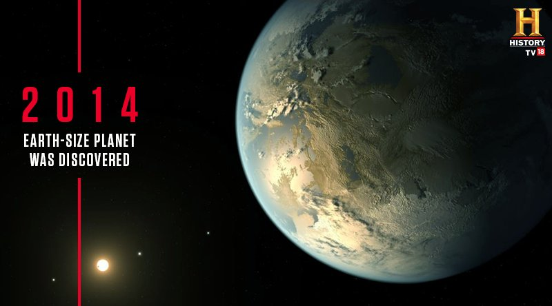 The astronomers have discovered the first Earth-size planet orbiting in the 'habitable zone' of another star. The planet, named 'Kepler-186f' orbits an M dwarf, or red dwarf, a class of stars that makes up 70 percent of the stars in the Milky Way galaxy. #ThisDayInHistory @NASA