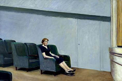 Edward Hopper(Intermission-Solitary Figure In Theatre)/Tsai Ming-Laing (Goodbye Dragon Inn-Stray Dogs)  #visualpoetry <br>http://pic.twitter.com/48cijvaTe7