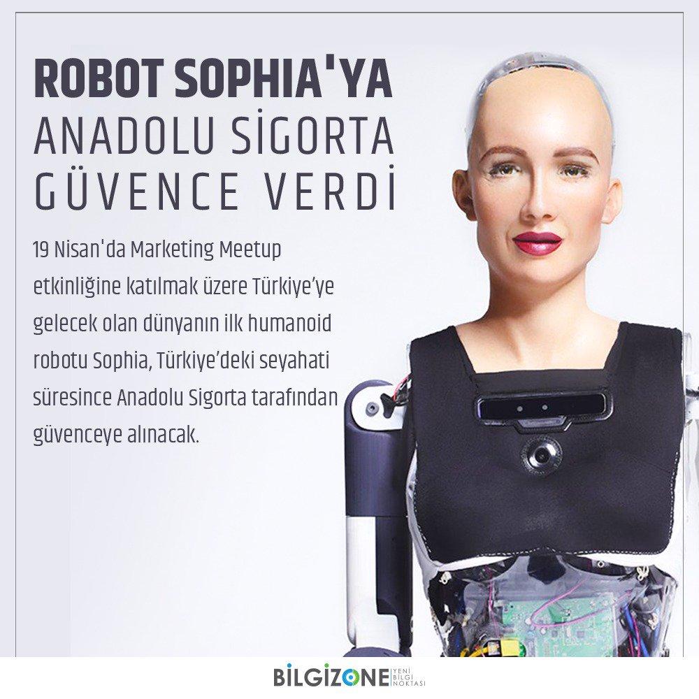 Robot Sophia, @Anadolu_Sigorta Güvencesiyle Türkiye'ye Geliyor https://t.co/LY3s9Mtoss @RealSophiaRobot https://t.co/2nntXEUhI0