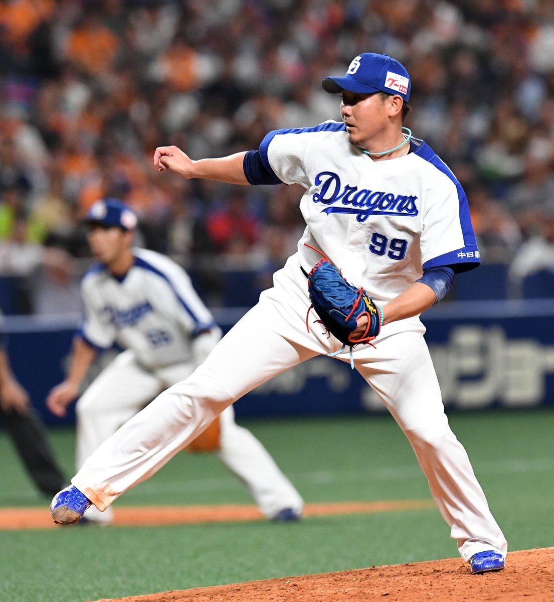 中日ドラゴンズ松坂大輔投手(37)が5回3失点で降板