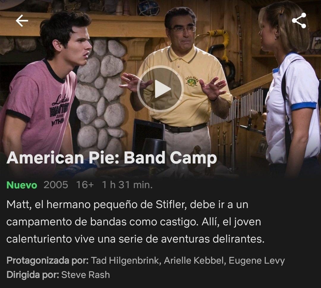 "American Pie Campamento De Bandas gallo de netflix on twitter: ""5/4/18 american pie: band camp"