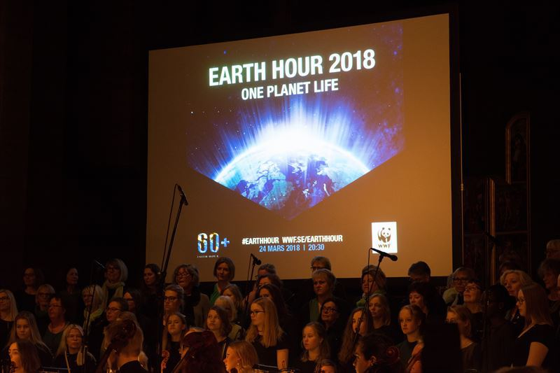 Rekordmanga kommuner deltog i earth hour