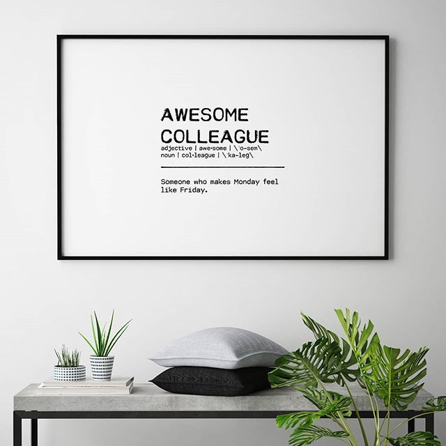 To who could you hand this awesome colleague print?❤️ - Get it in the link in the bio. AWESOME COLLEAGUE QUOTE II by Orara Studio - #artboxone #bespecial https://t.co/lLr1S62hBn