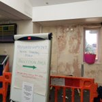 Reception refurbishment works underway with @EFTGroupLtd  at Chorley Hospital @LancsHospitals @LancsHealthAcad