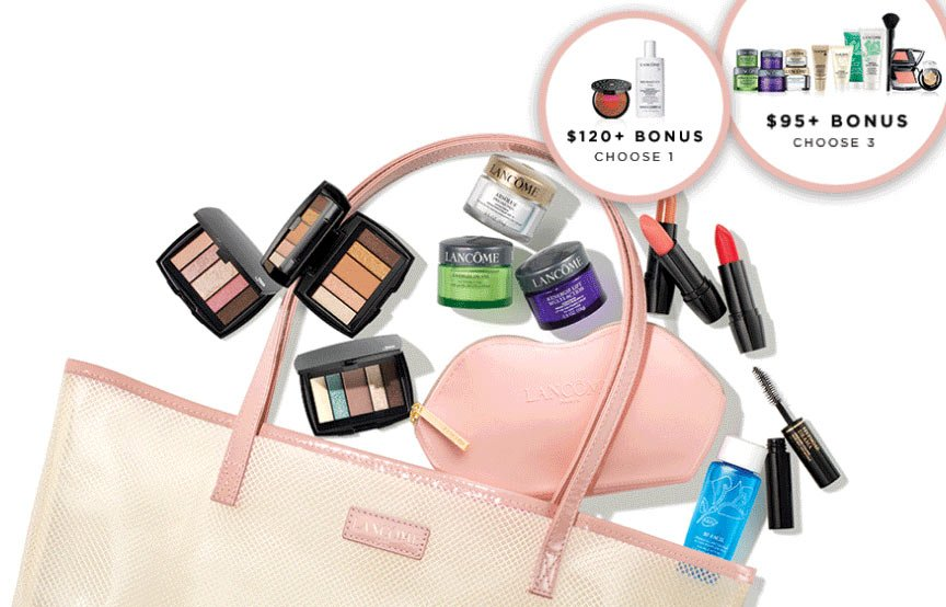 """Gift with Purchase on Twitter: """"There are currently 3 Lancome GWP offers - Nordstrom, Lord & Taylor and from Lancome US website (pictured bellow). ..."""