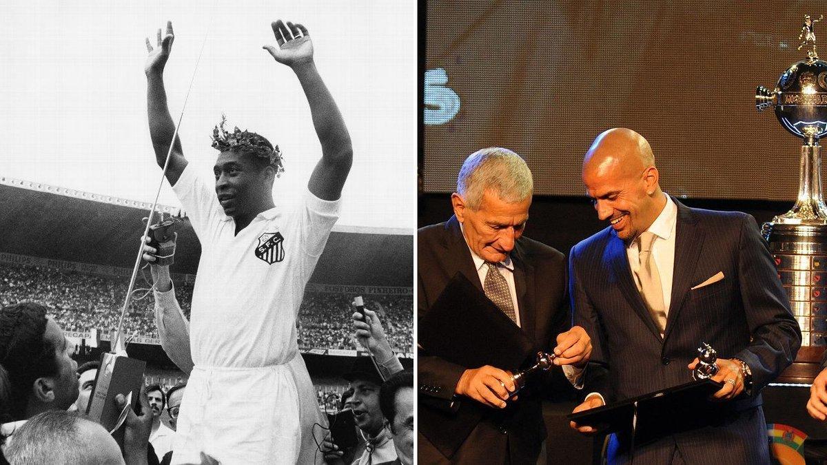 .@SantosFC x @EdelpOficial já teve pai de Verón ofuscando Pelé; hoje se enfrentam pela Libertadores! https://t.co/d5r3XAGVbW