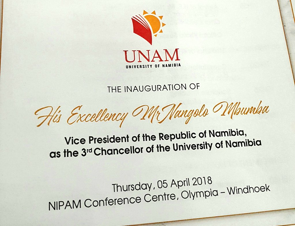 Myunam on twitter the inauguration of he mr nangolo mbumba vice 630 am 5 apr 2018 thecheapjerseys Image collections