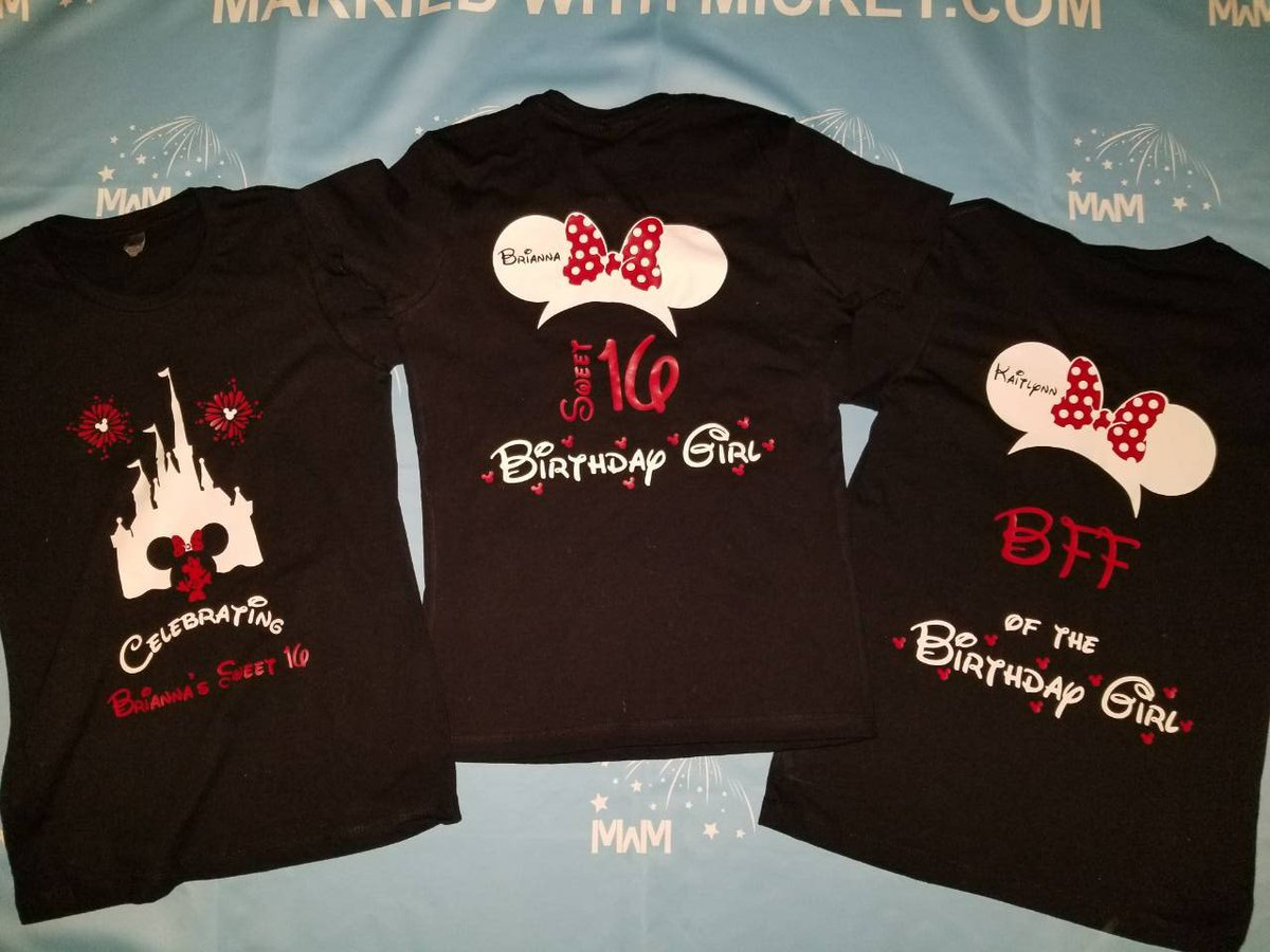 BirthdayShirts For Friends And Family Members Birthday Girl Boy Sweet 16 Minnie Mouse Head With Polka Dots Bow Mom Of The