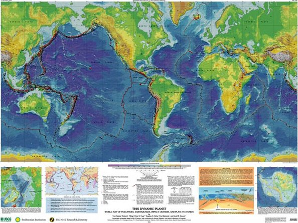 Usgs on twitter this dynamic planet world map of volcanoes 1100 am 5 apr 2018 gumiabroncs Images