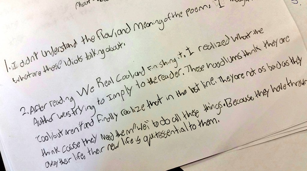we real cool poem meaning