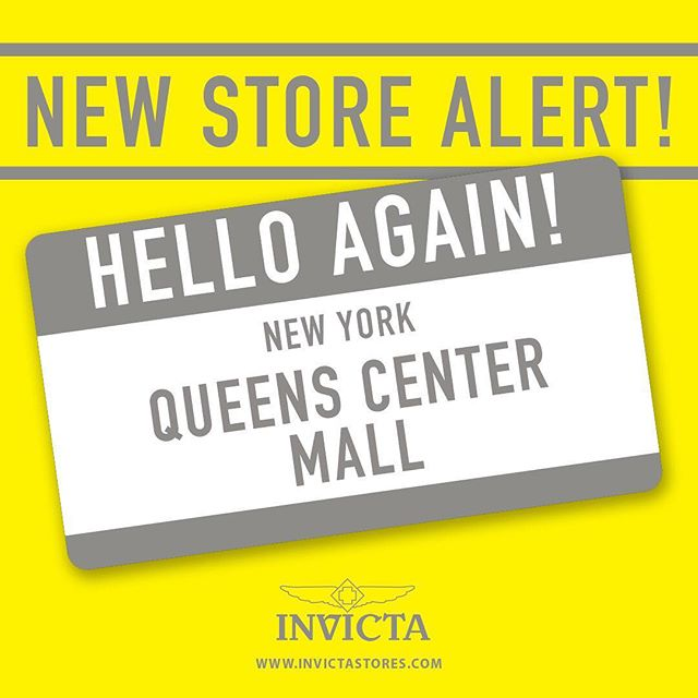 Today we are proud to announce that we expanded our shopping area in Queens Center Mall with a brand-new location @officialinvictastores #Invicta #InvictaFamily 📷: @invictawatch