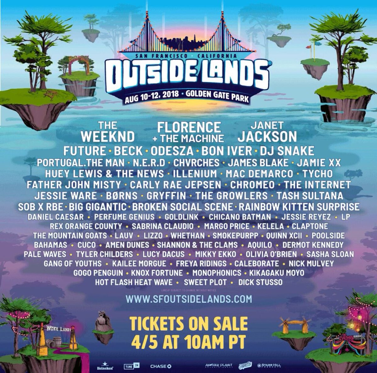 California can't wait to play @sfoutsidelands this summer