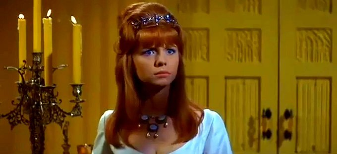 """Happy birthday to both Jane Asher, who starred in \""""Masque of the Red Death\"""" and to Roger Corman, who directed it."""