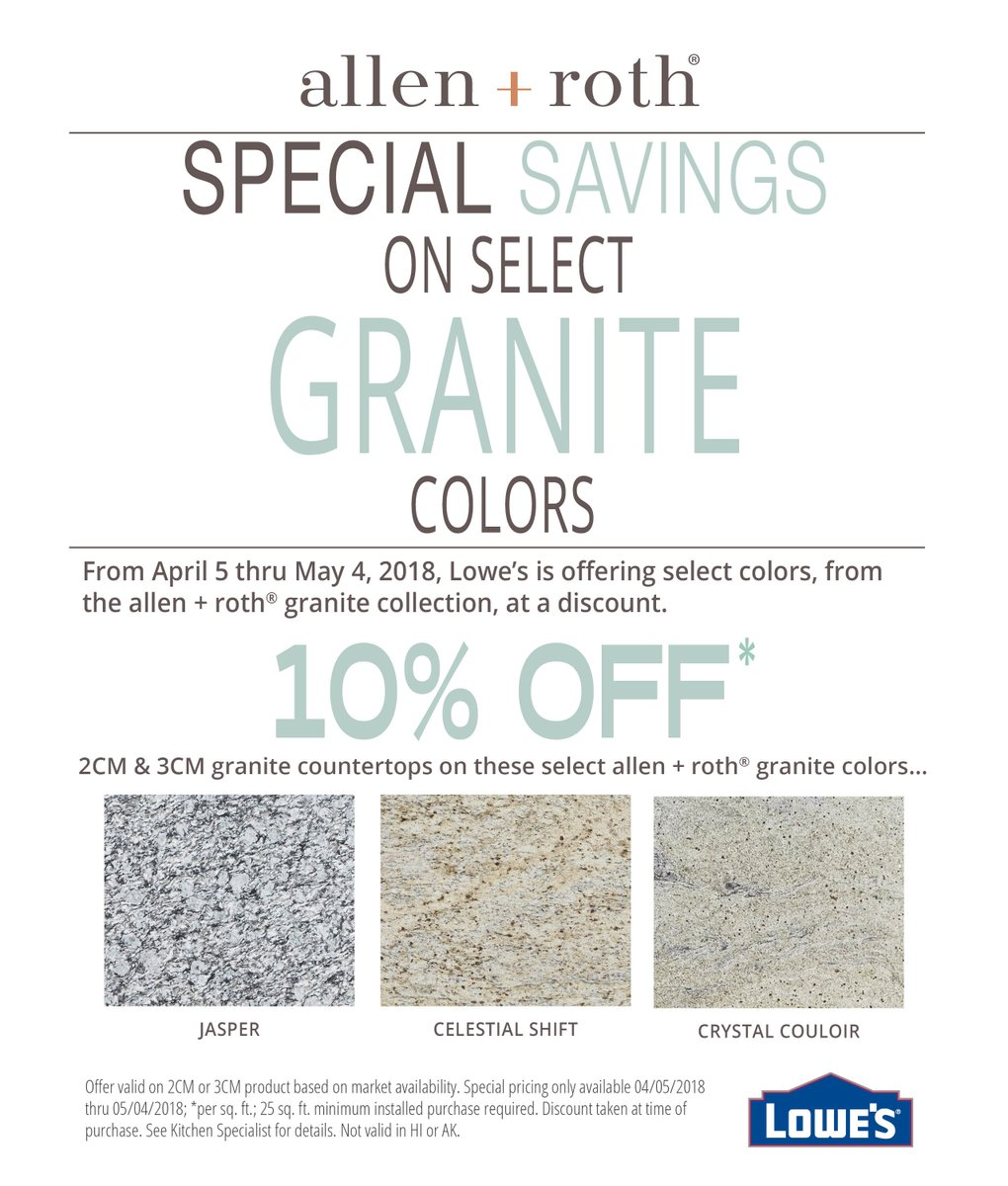 Sage Surfaces On Twitter 10 Off On Select Allen Roth Granite