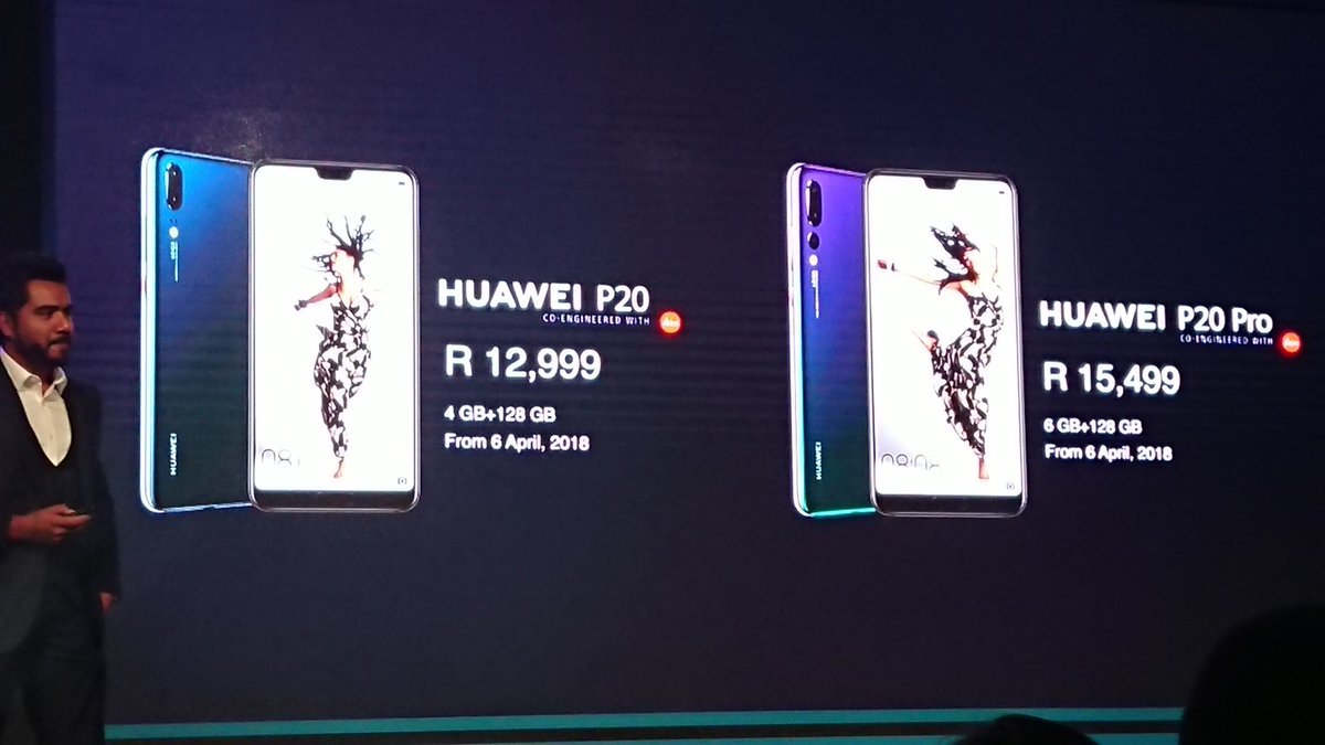 Local pricing for the #HuaweiP20SA #SeeMooore @GES_SA