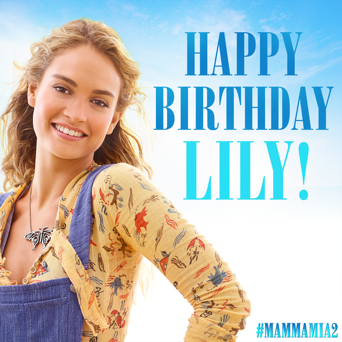 Happy Birthday to our young Donna, Lily James!