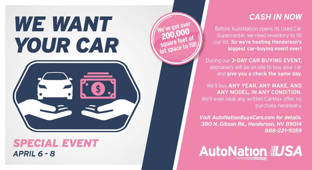 We Buy Used Cars >> Nvccf Twitterissa Starting Tomorrow April 6 8 Sell