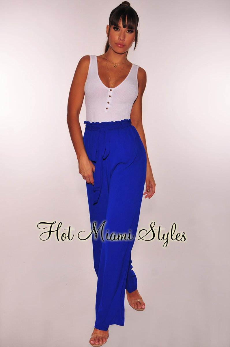 5d2ec47bbb72 Pants   29.99 http   www.hotmiamistyles.com Royal Blue High Waist Belted Palazzo Pants p 170244proyalblue.htm  …pic.twitter.com WQSwHvEvDF