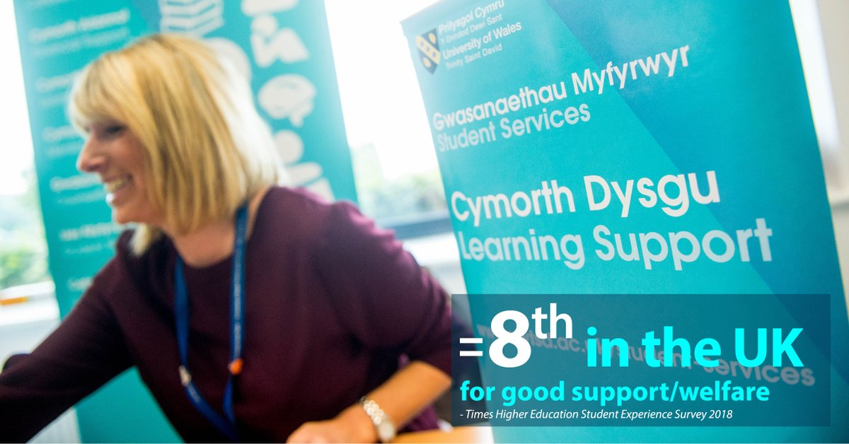 A supportive university. #UWTSD came joint 8th in the UK &amp; 1st in Wales for &#39;good support/welfare&#39; in the Times Higher Education Student Experience Survey.  http:// bit.ly/2I6FLv3  &nbsp;    #THESES2018  @timeshighered @UWTSD #GoodTimes #DyddieDa <br>http://pic.twitter.com/EO3GnFdiMj