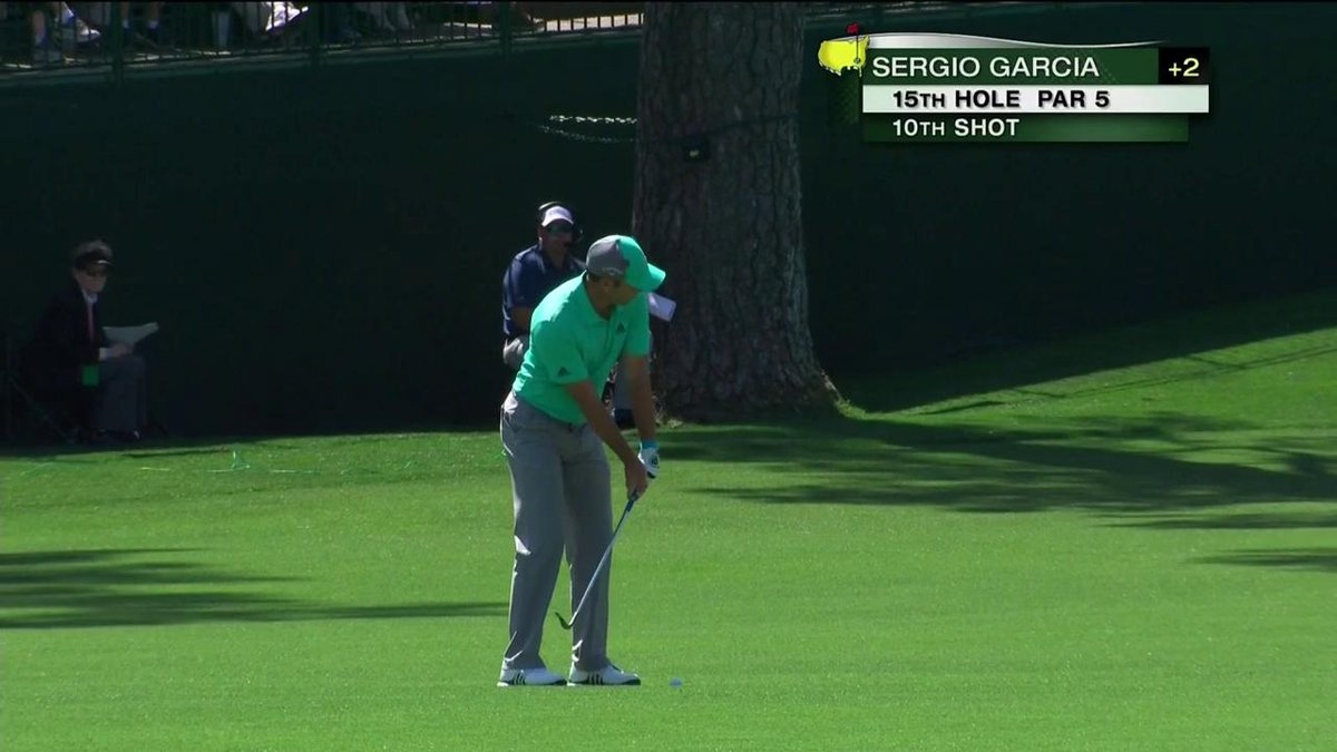 Sergio Garcia shoot 13 on the 15th hole at The Masters. 5 shots in to the water.