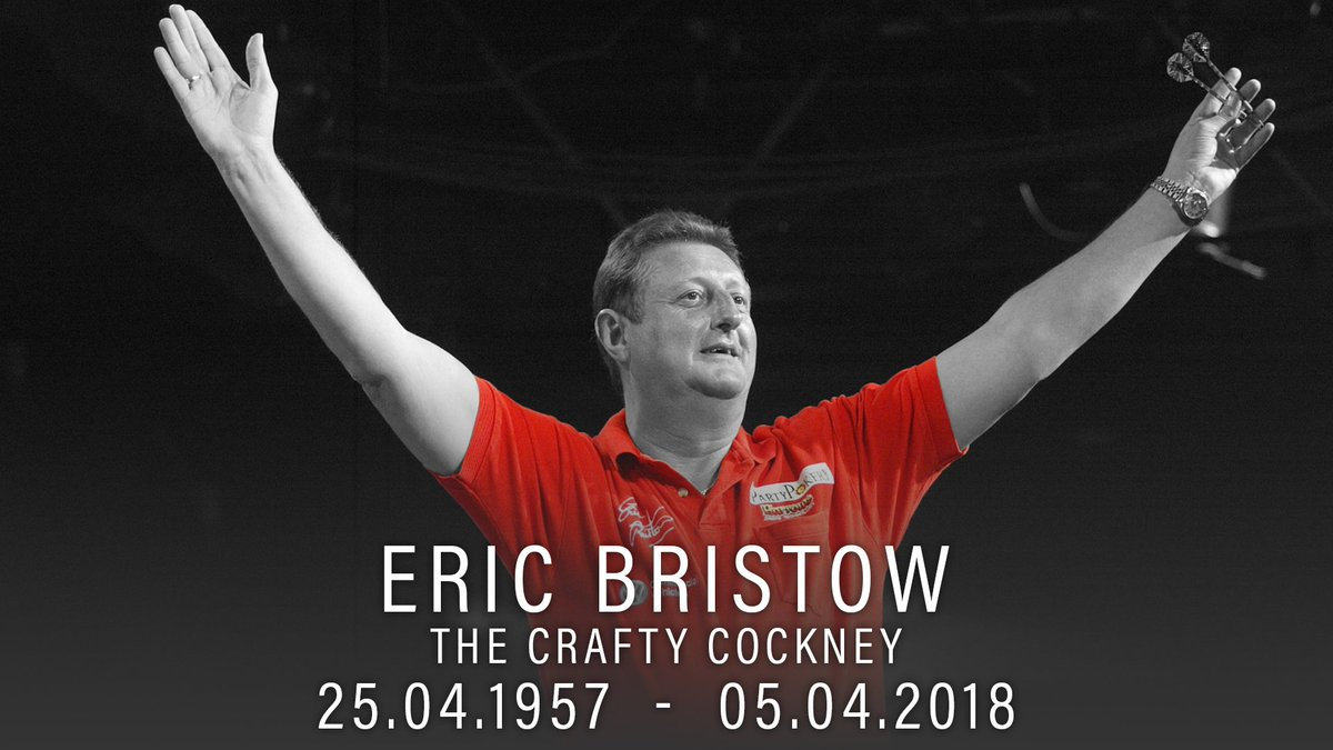 It is with great sadness that we bring you the news that five-time World Champion Eric Bristow has passed away, aged 60. ➡️ pdc.tv/news/2018/04/0…